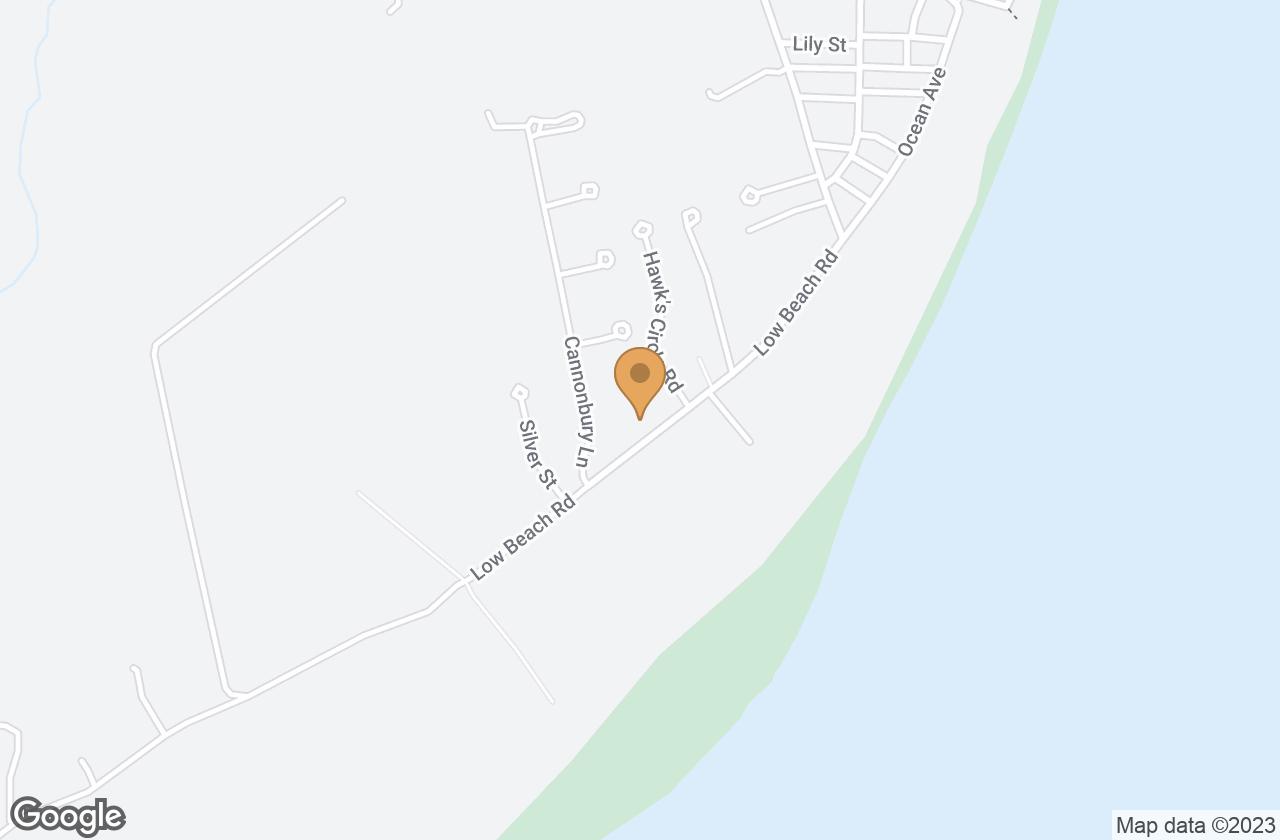 Google Map of 33 Low Beach Road, Nantucket, MA, USA