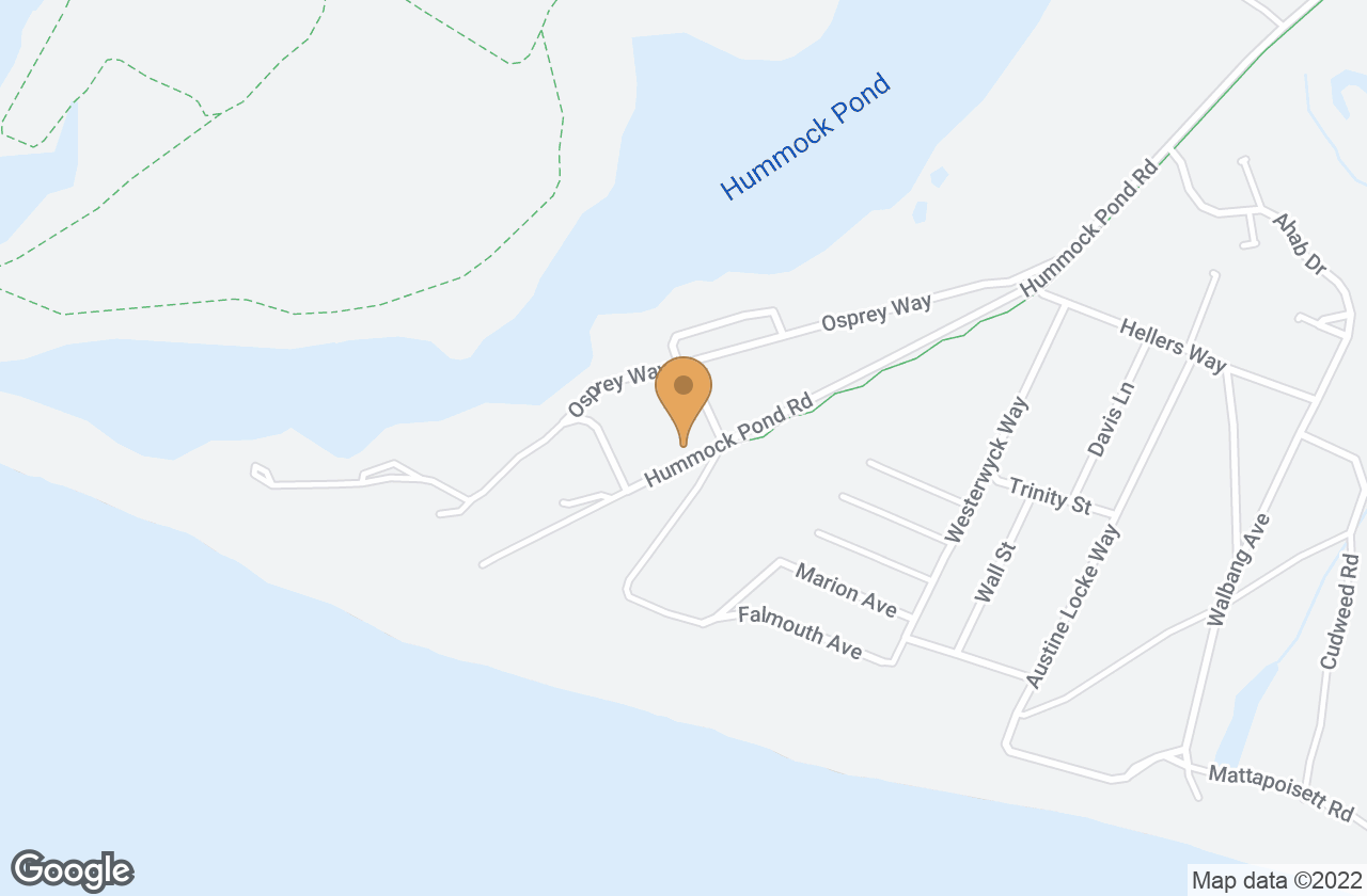 Google Map of 251 Hummock Pond Road, Nantucket, MA, USA