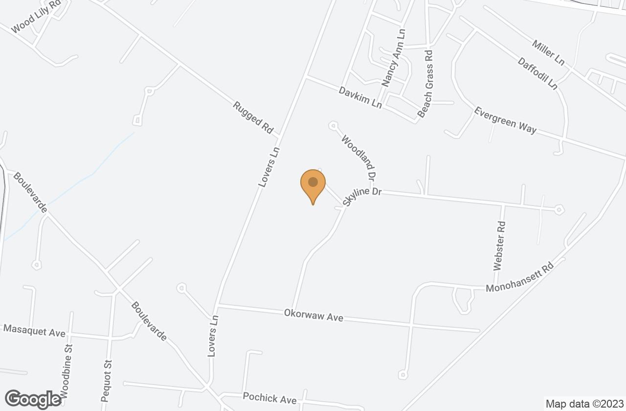 Google Map of 10 Skyline Drive, Nantucket, MA, USA