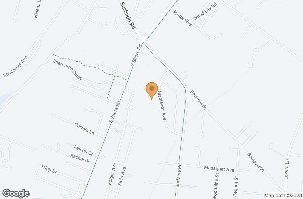 Google Map of 16 Gladlands Avenue, Nantucket, MA, USA