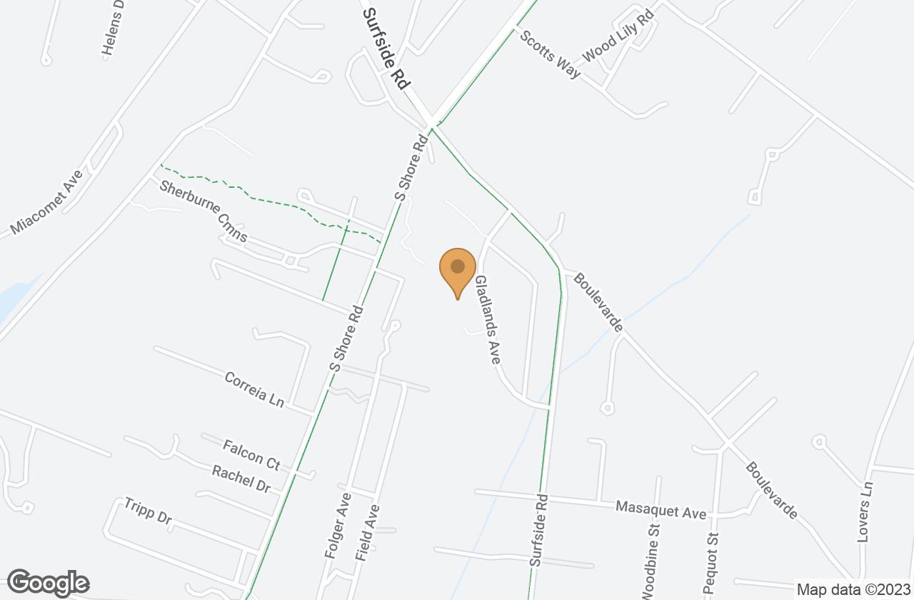 Google Map of 16 Gladlands Ave