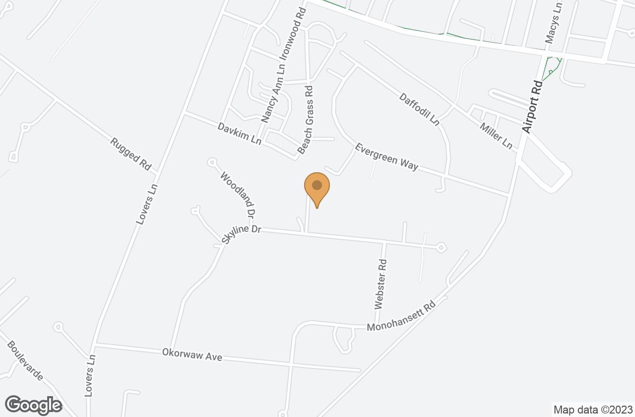 Google Map of 46 Skyline Drive, Nantucket, MA, USA