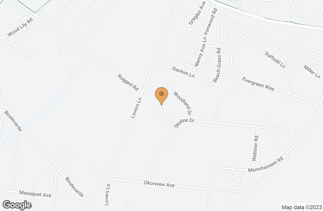 Google Map of 12R Skyline Drive, Nantucket, MA, USA