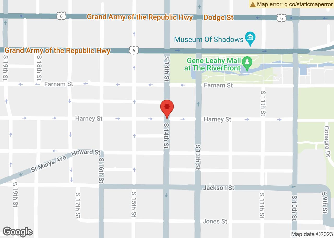 Map of , Omaha, NE