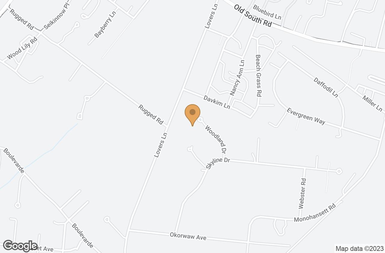 Google Map of 22 Woodland Drive, Nantucket, MA, USA