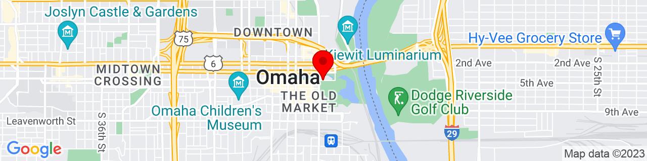 Google Map of 41.2575815, -95.9285657