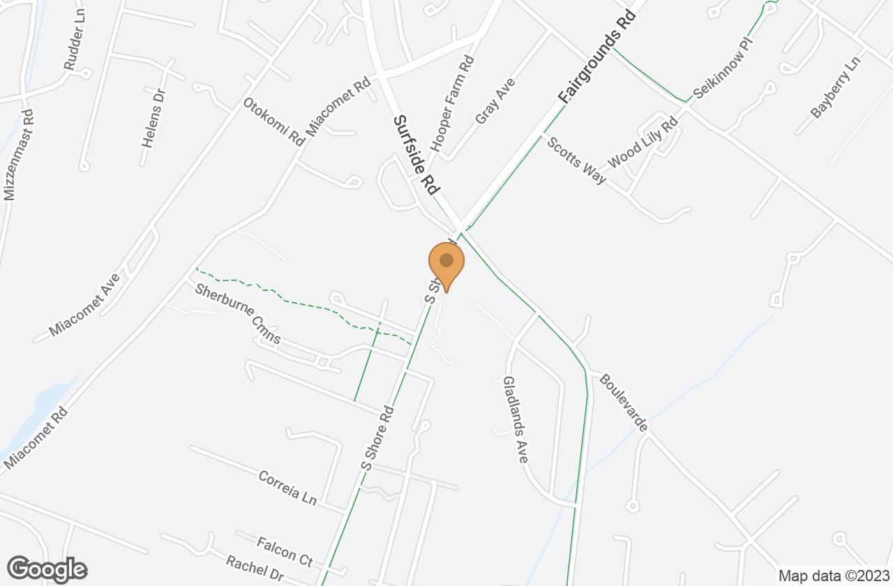 Google Map of 6 South Shore Road, Nantucket, MA, USA