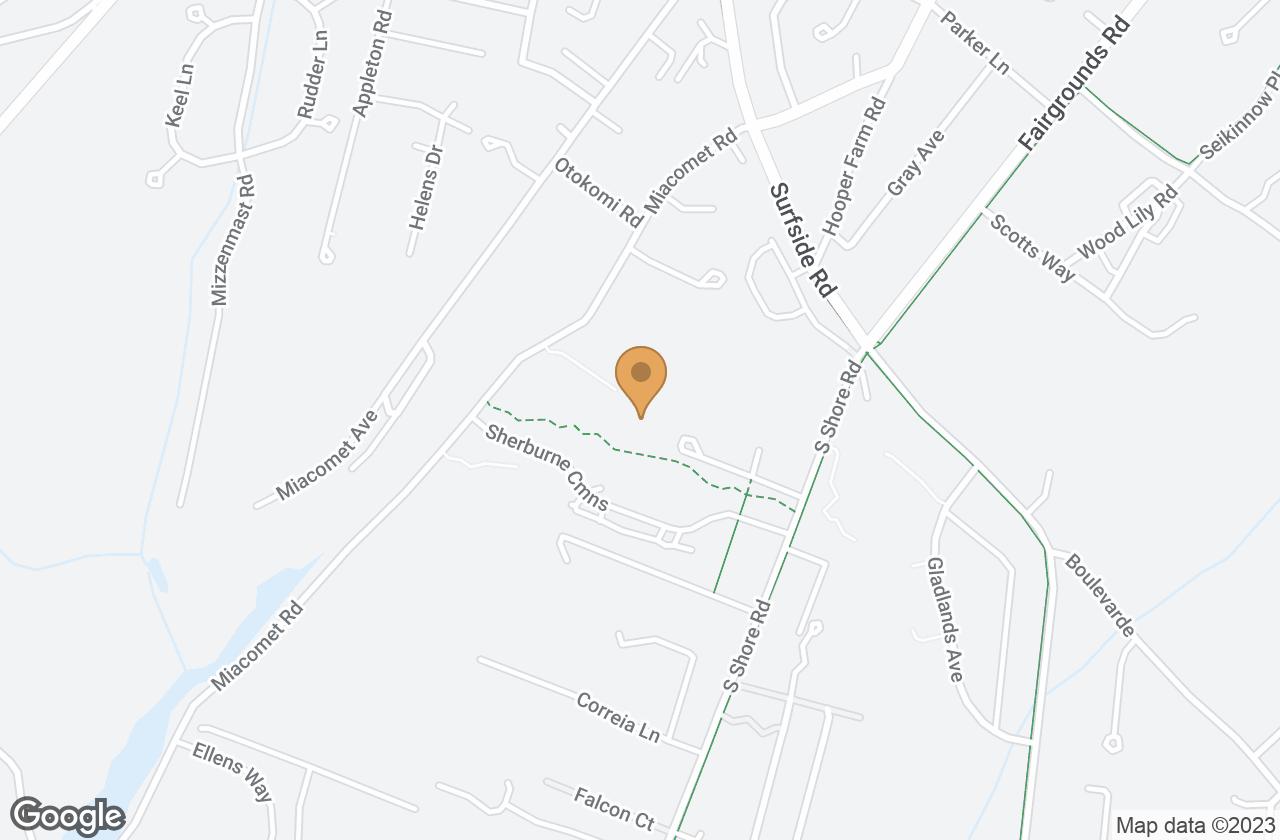 Google Map of 5 Wherowhero Lane, Nantucket, MA, USA