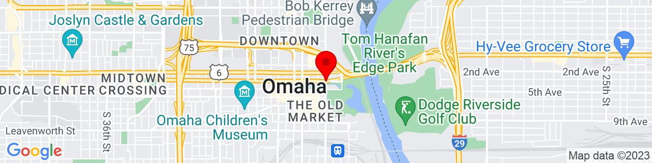 Google Map of 41.25861, -95.9291835