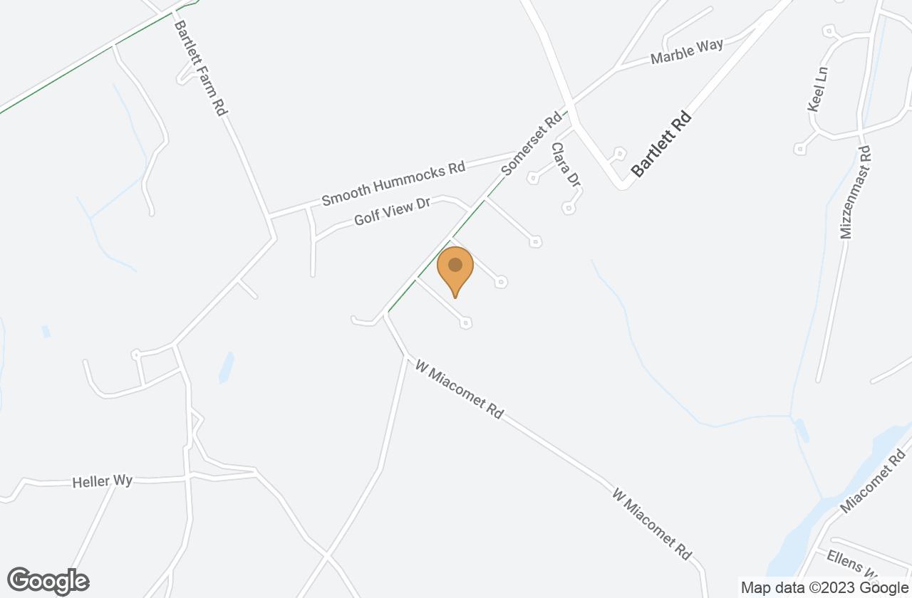Google Map of 6 Swayzes Drive , Nantucket, MA, USA