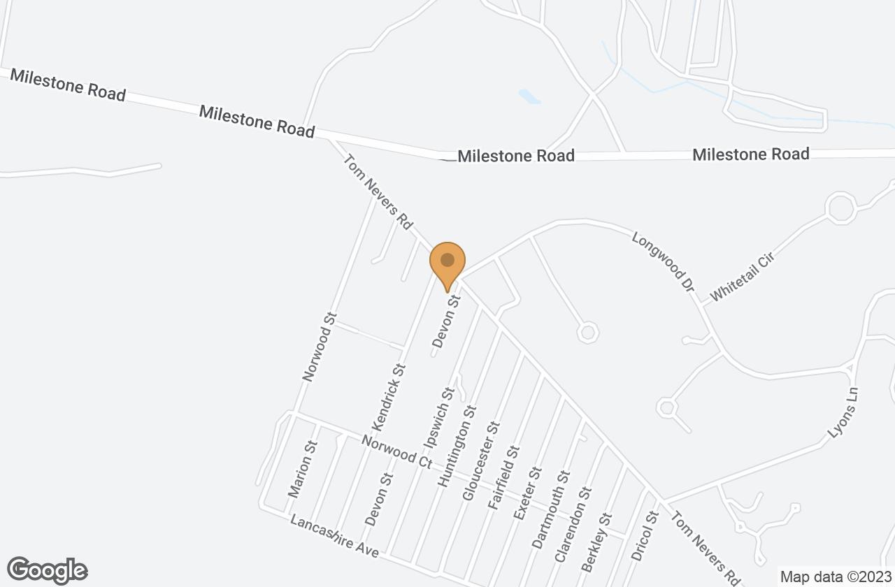 Google Map of 1 Devon Street, Nantucket, MA, USA