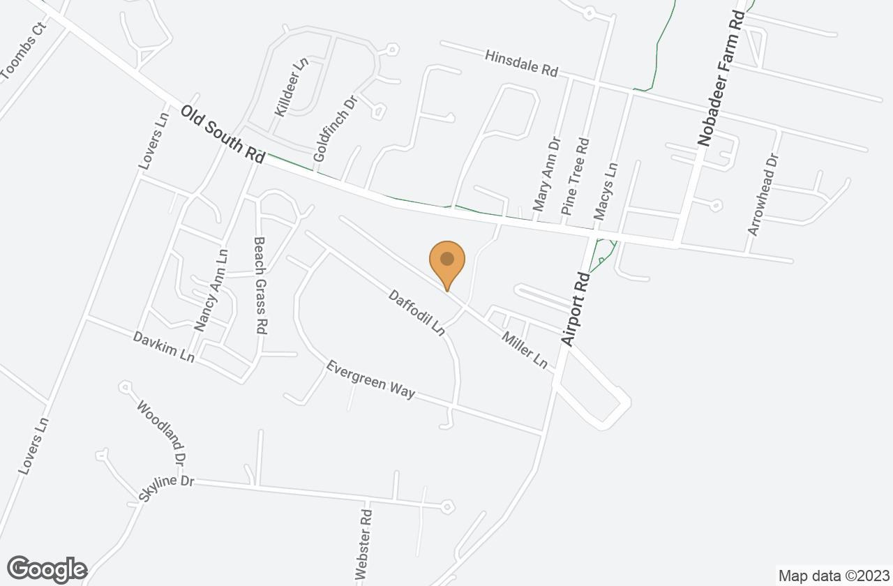 Google Map of 10 Miller Lane, Nantucket, MA, USA