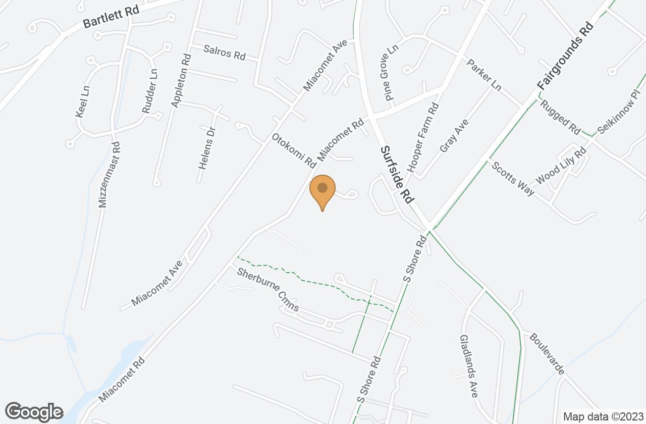 Google Map of 20 Miacomet Road, Nantucket, MA, USA
