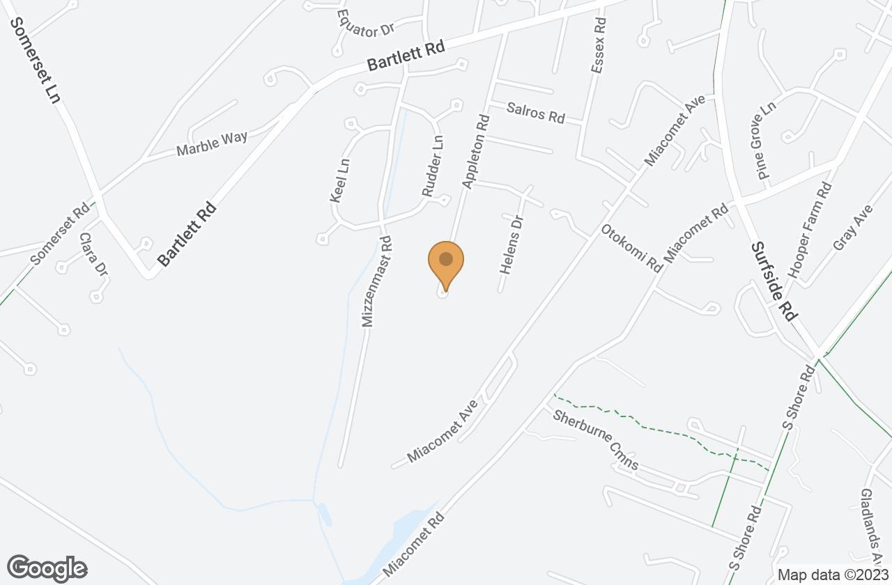 Google Map of 47 Appleton Road, Nantucket, MA, USA