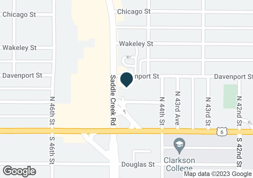 Google Map of225 N SADDLE CREEK RD