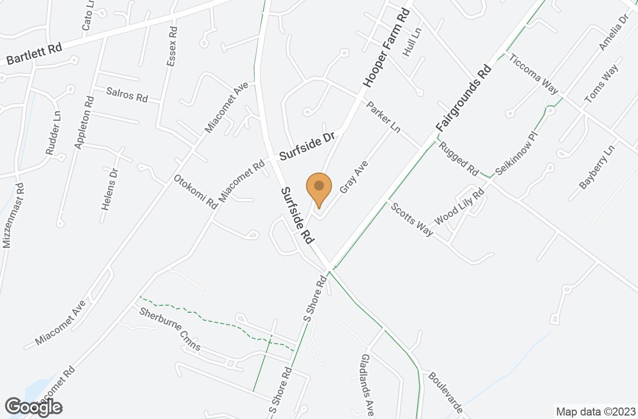 Google Map of 19 Gray Avenue, Nantucket, MA, USA