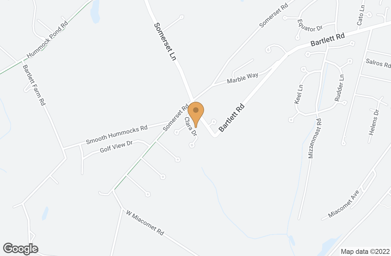 Google Map of 6  Clara Drive, Nantucket, MA, USA