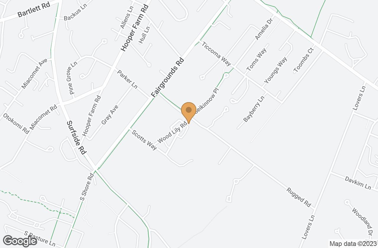 Google Map of 12 Wood Lily Road, Nantucket, MA, USA