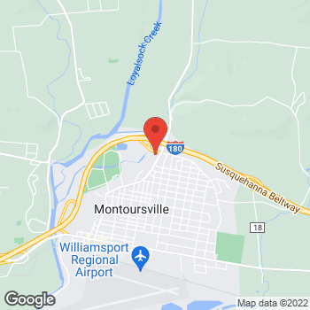 Map of Verizon Authorized Retailer - TCC at 1025 N Loyalsock Ave, Montoursville, PA 17754