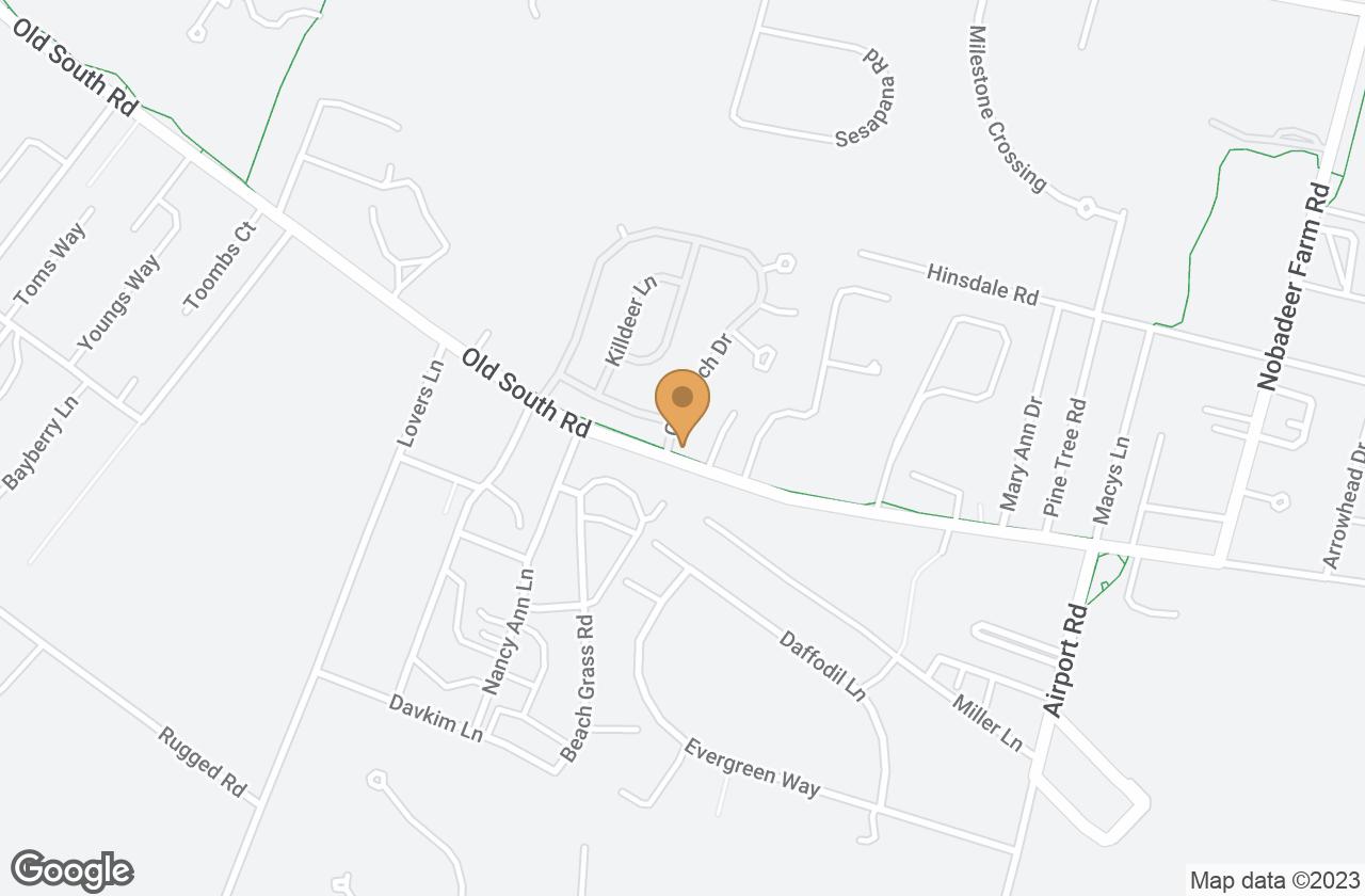 Google Map of 1 Goldfinch Drive, Nantucket, MA, USA