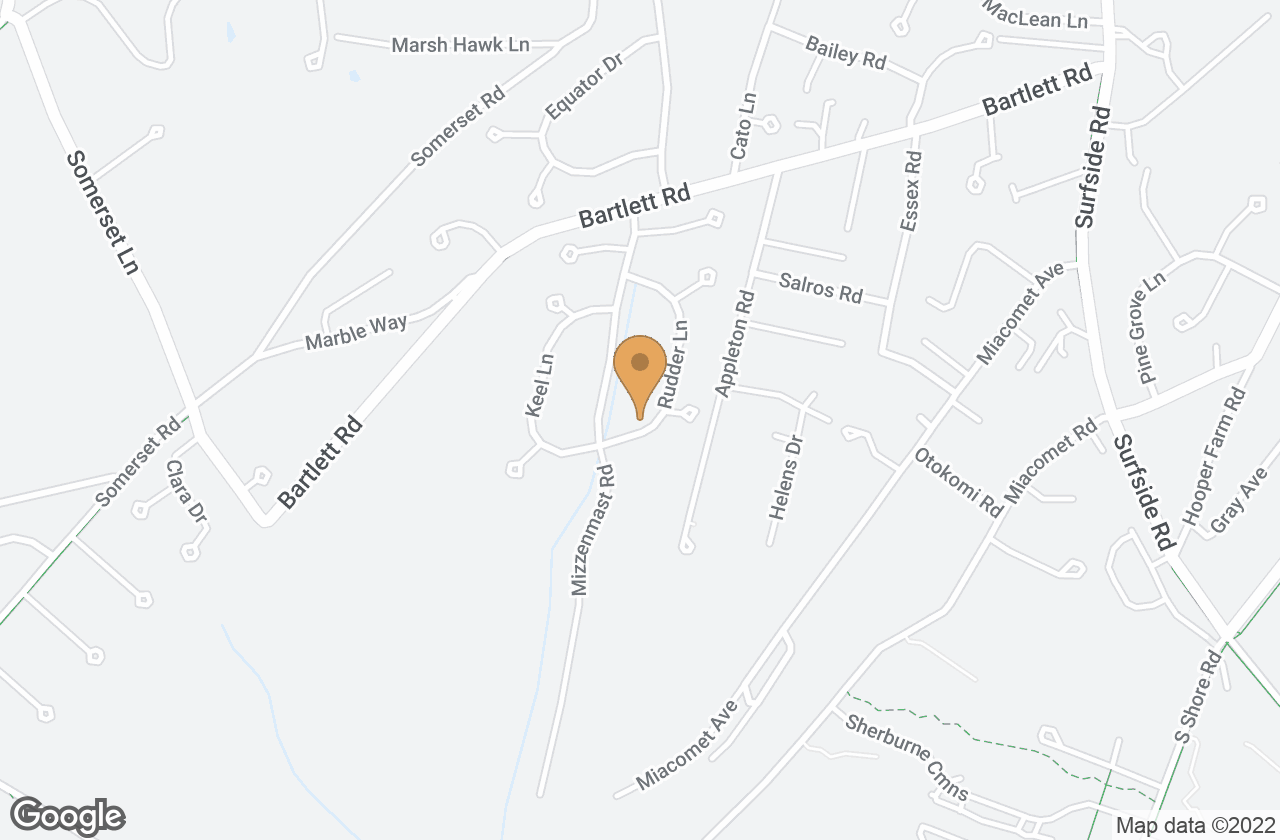 Google Map of 15 Rudder Lane, Nantucket, MA, USA