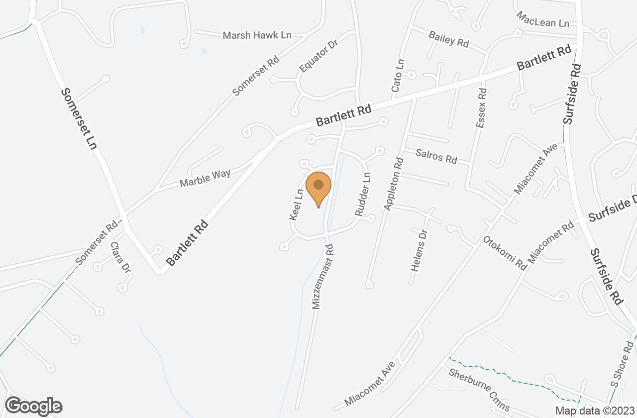 Google Map of 13 Mizzenmast Rd