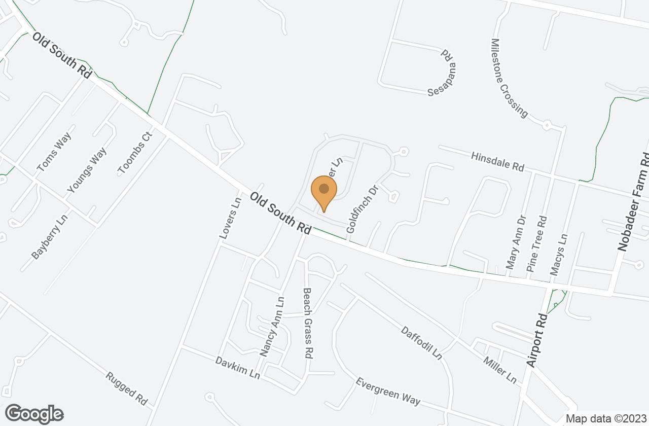 Google Map of 9 Bluebird Lane
