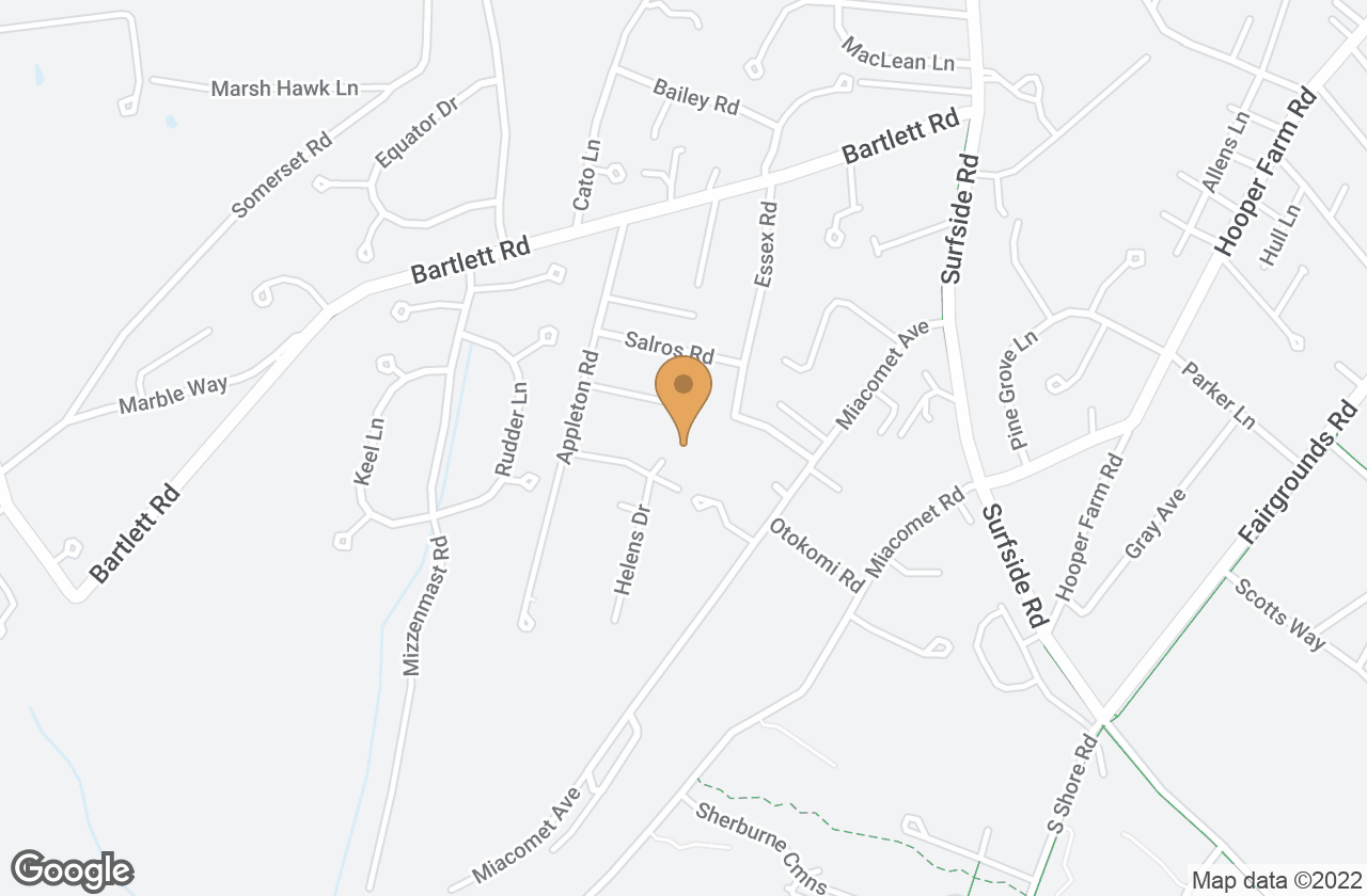 Google Map of 5 Jeans Way, Nantucket, MA, USA