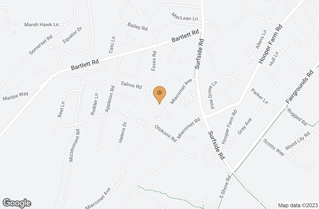 Google Map of 52 Essex Road, Nantucket, MA, USA