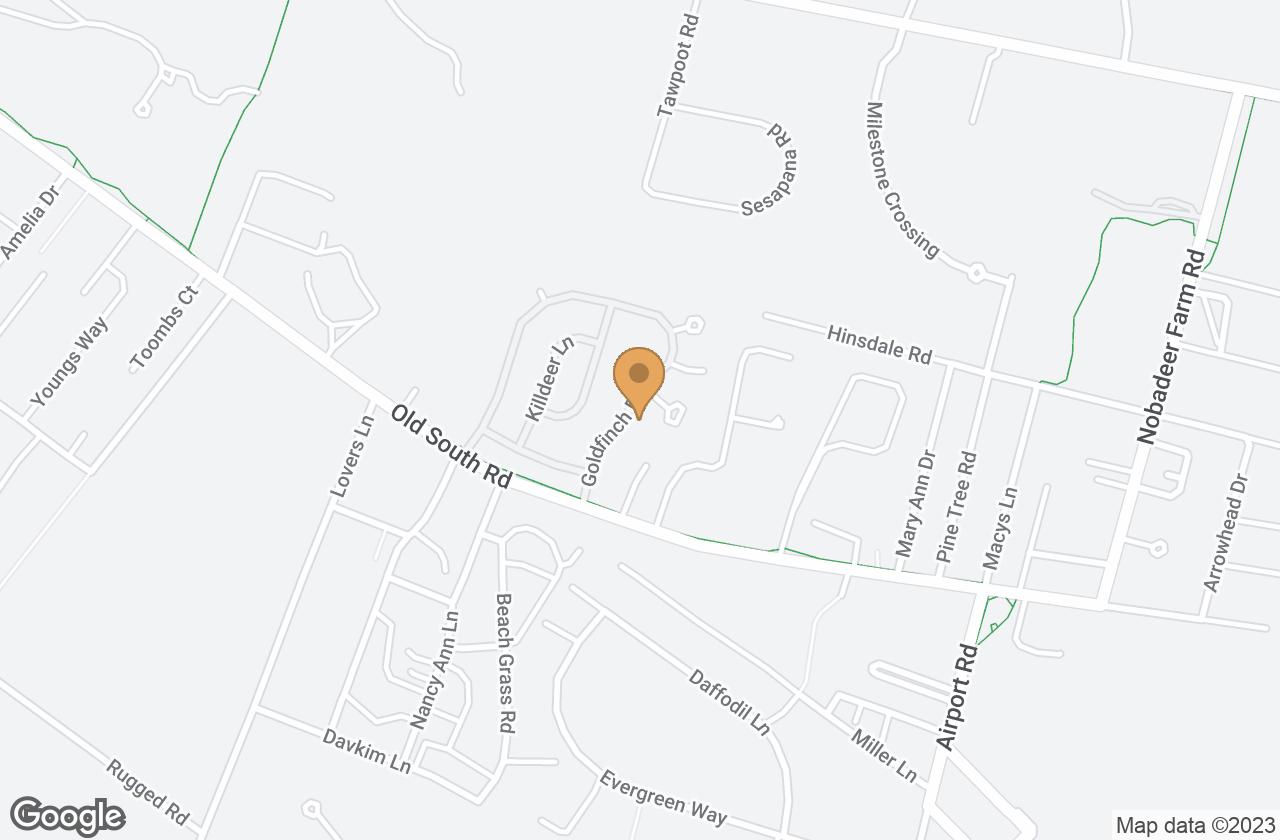 Google Map of 21 Goldfinch Drive, Nantucket, MA, USA