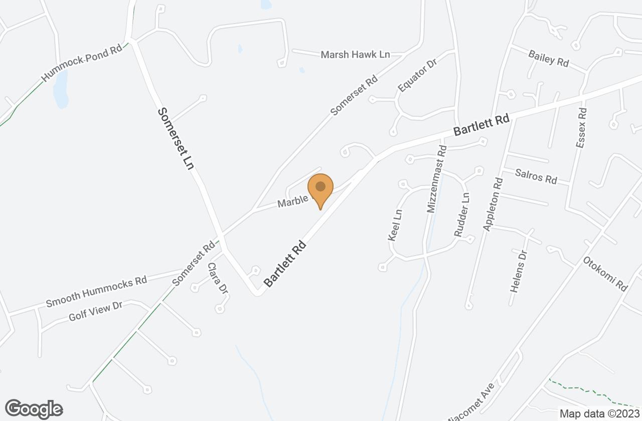Google Map of 67 Bartlett Road & 4B Marble Way, Nantucket, MA, USA