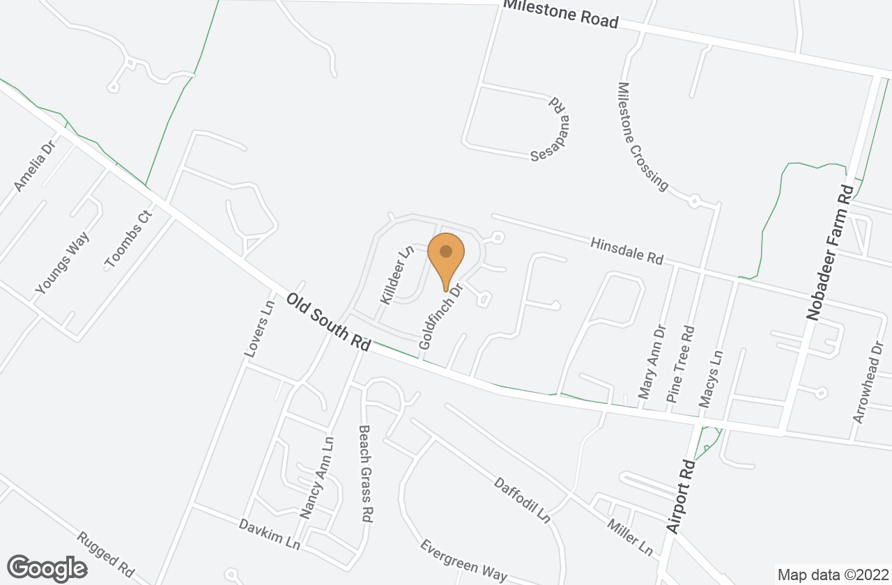 Google Map of 18 & 20 Goldfinch Drive, Nantucket, MA, USA