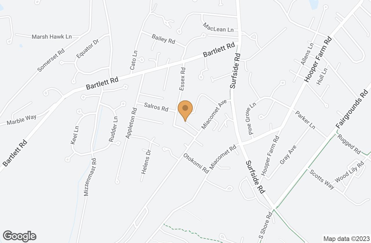 Google Map of 15 Point Judith Lane, Nantucket, MA, USA