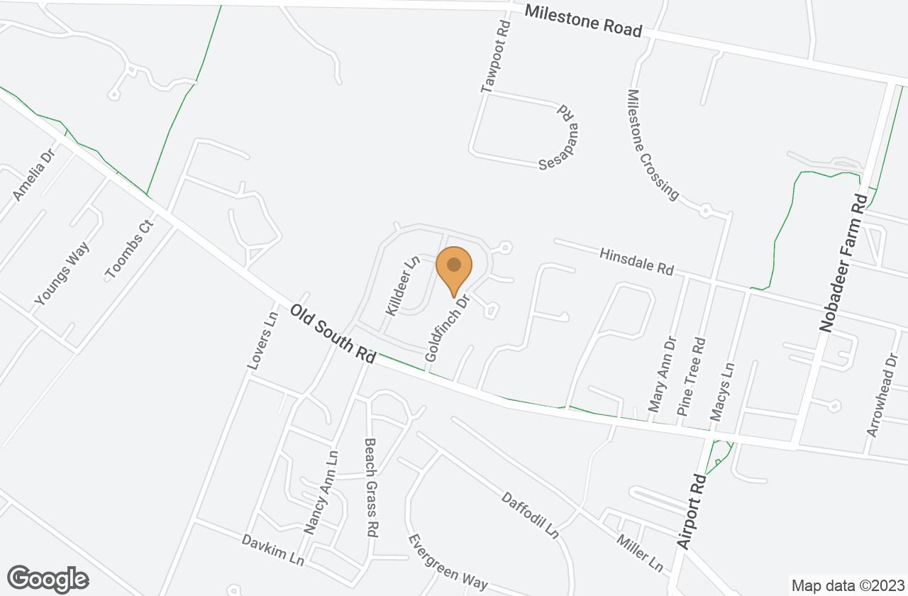 Google Map of 20 Goldfinch Drive, Nantucket, MA, USA