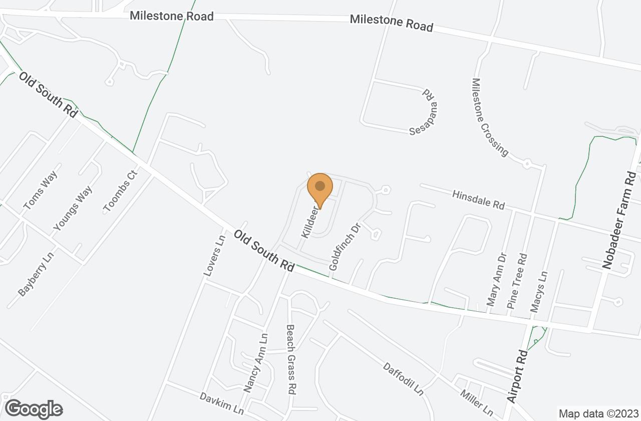 Google Map of 7 Killdeer Lane, Nantucket, MA, USA