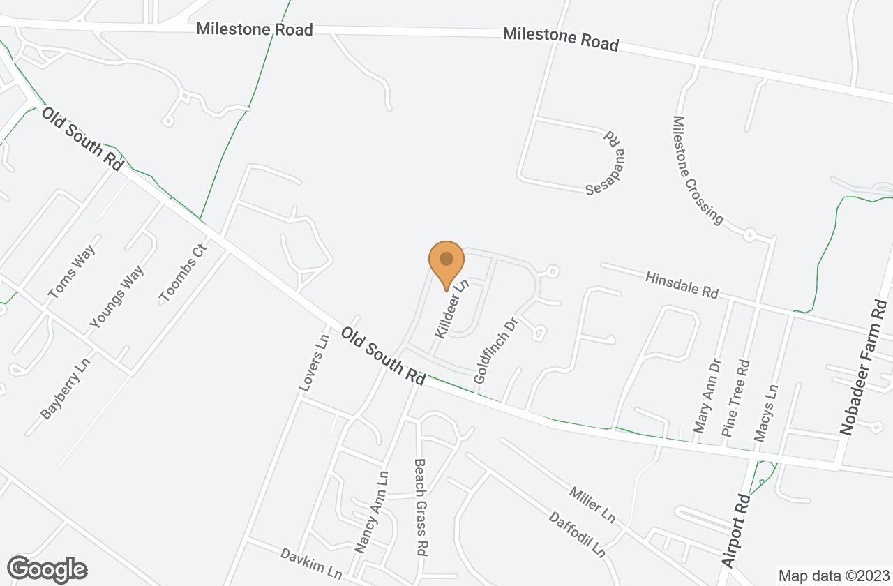 Google Map of 22 Killdeer Lane, Nantucket, MA, USA