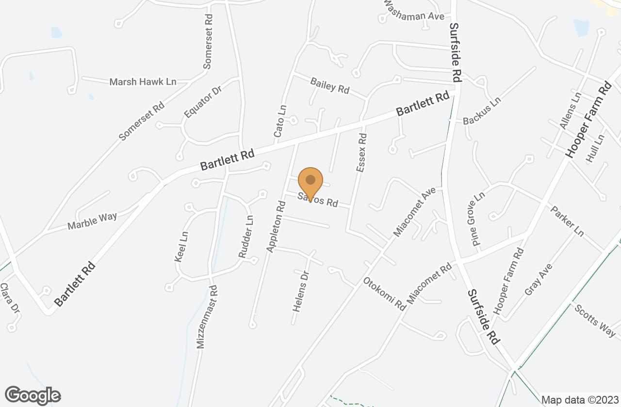 Google Map of 5 Salros Road, Nantucket, MA, USA