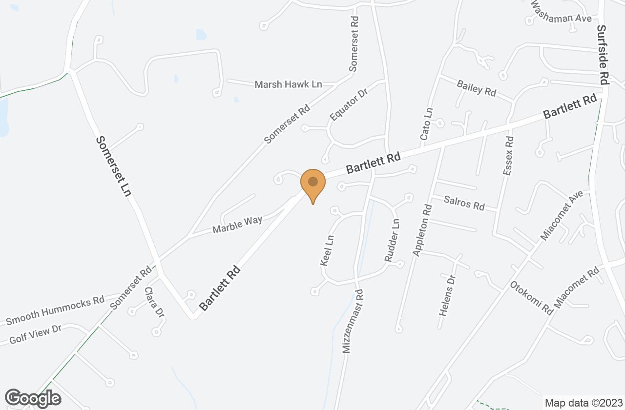 Google Map of 11 Grey Lady Lane, Nantucket, MA, USA