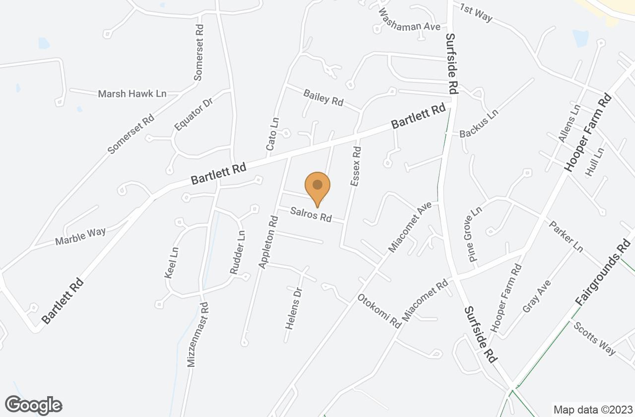 Google Map of 8 Salros Road, Nantucket, MA, USA