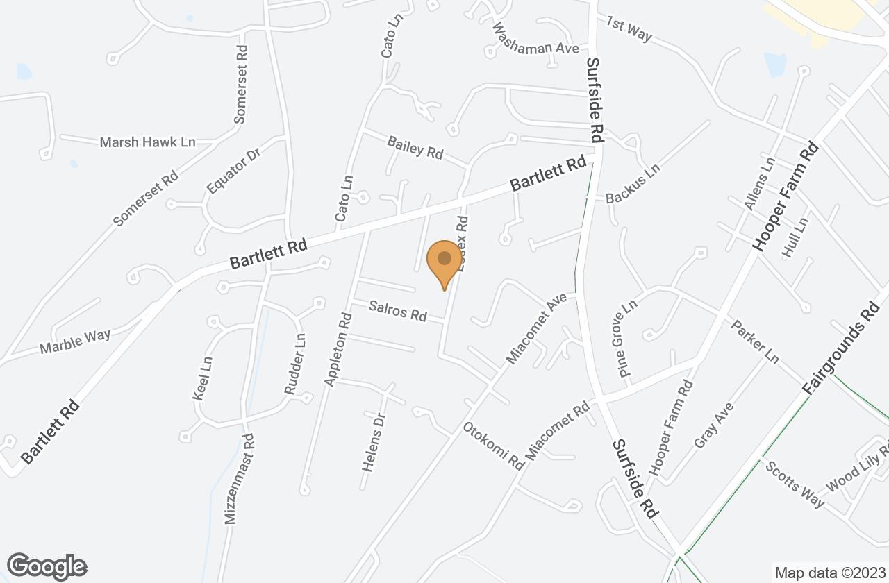 Google Map of 27 Essex Road, Nantucket, MA, USA