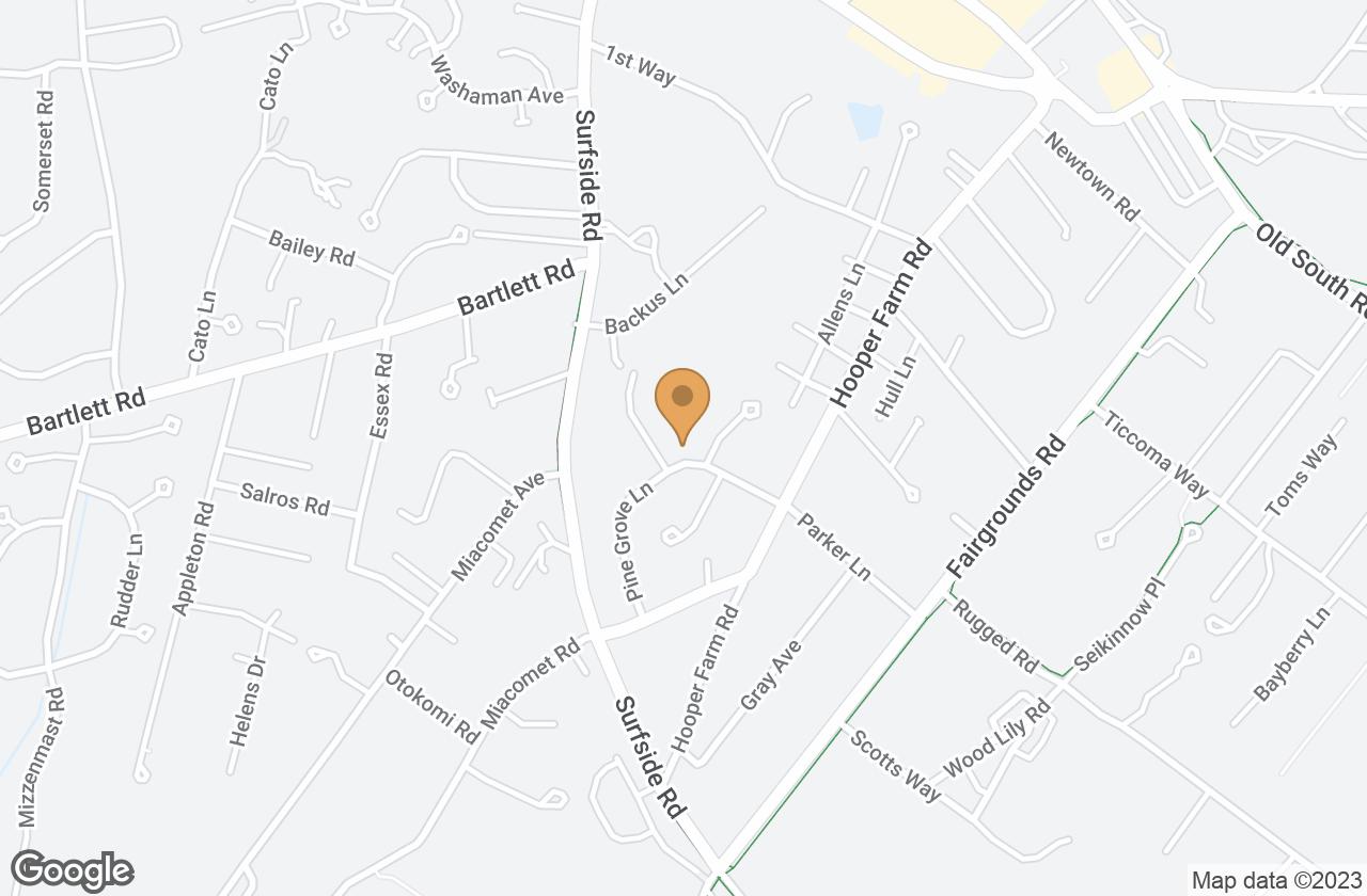 Google Map of 26 Pine Grove Road, Nantucket, MA, USA