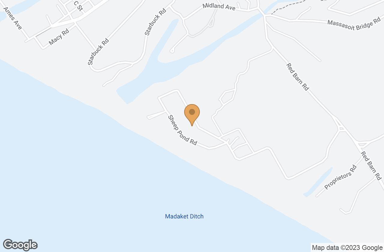 Google Map of 14 & 16 Sheep Pond Road, Nantucket, MA, USA