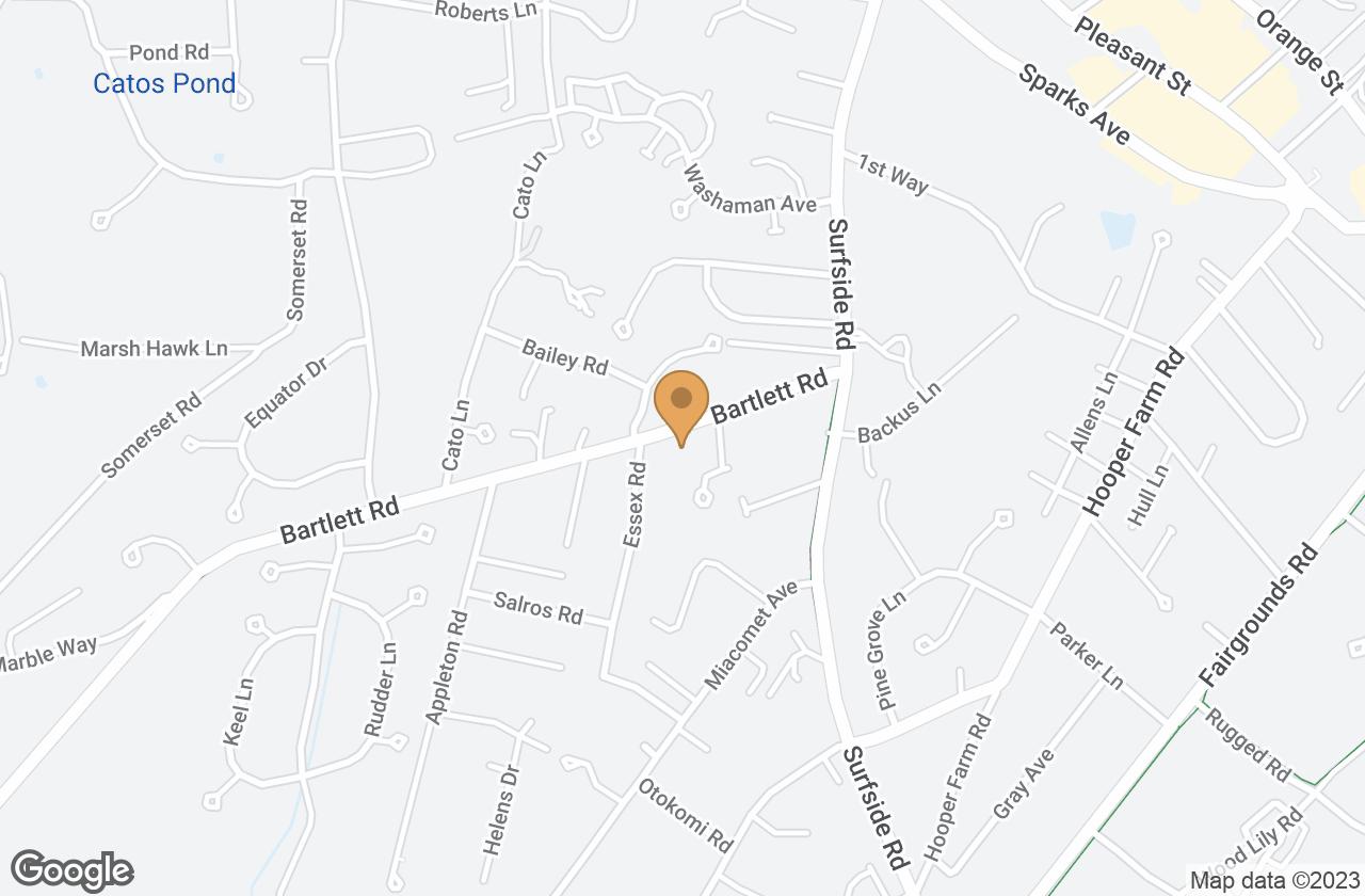 Google Map of 18B Bartlett Road, Nantucket, MA, USA