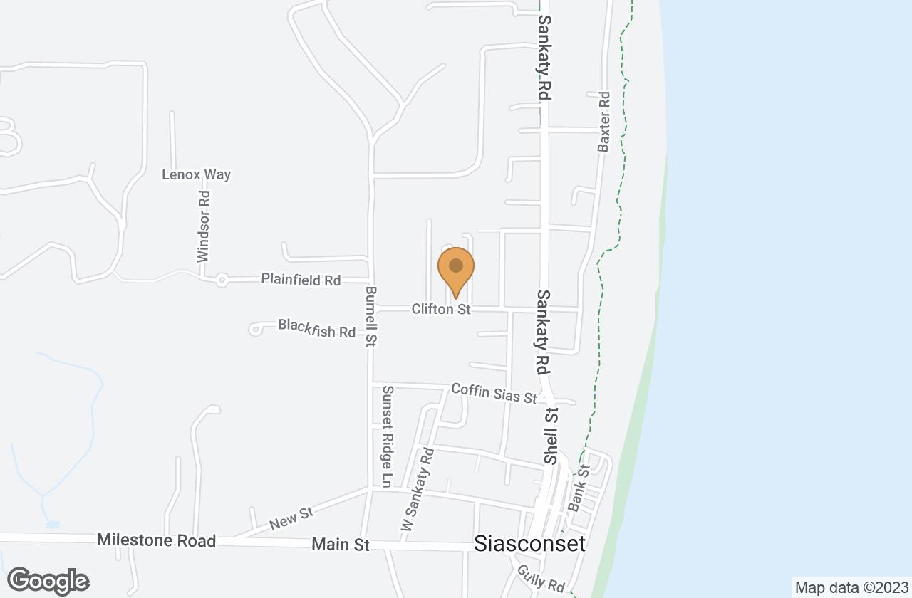 Google Map of 15  Clifton Street, Nantucket, MA, USA