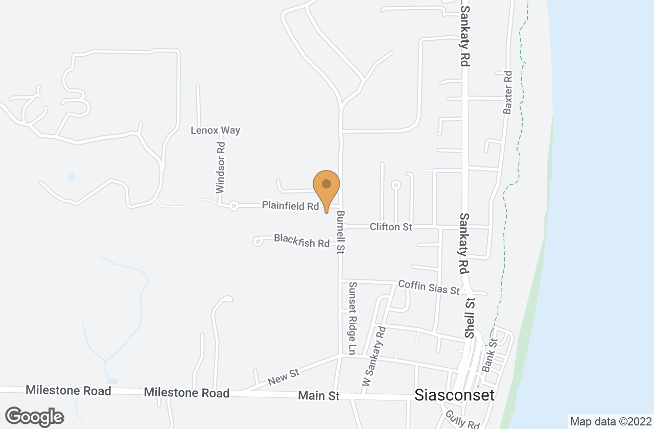 Google Map of 5 Black Fish Lane, Nantucket, MA, USA