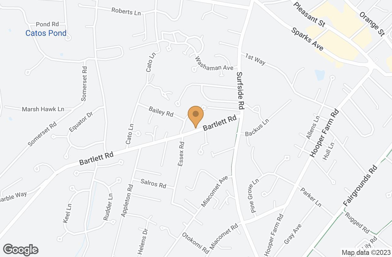 Google Map of 17 Bartlett Road, Nantucket, MA, USA
