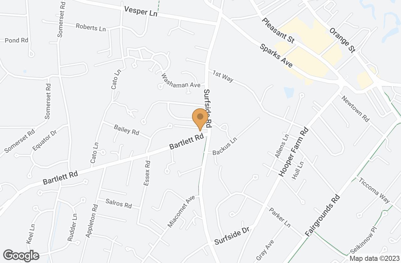 Google Map of 1  Bartlett Road, Nantucket, MA, USA