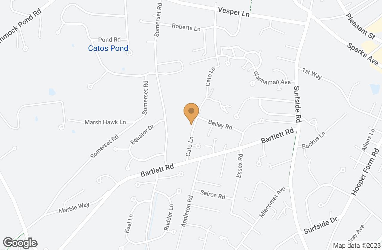 Google Map of 63 Cato Lane, Nantucket, MA, USA