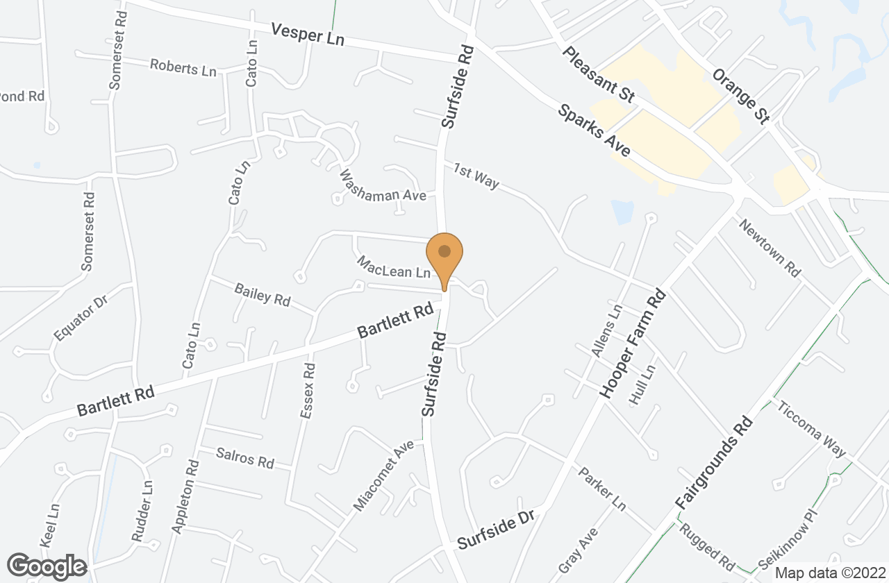 Google Map of 10A Larrabee Lane, Nantucket, MA, USA