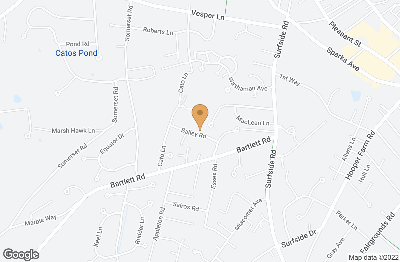 Google Map of 16 Bailey Road, Nantucket, MA, USA